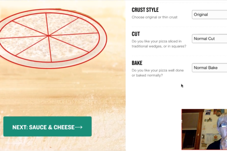 Create your pizza online: A usability study